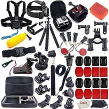 MOUNTDOG لوازم جانبی دوربین لوازم جانبی کیت برای GoPro قهرمان 7 6 5 4 3+ 3 2 1 قهرمان جلسه 5 مجموعه لوازم جانبی سیاه مجموعه ای برای Yi AKASO Apeman SJ4000 DBPOWER WiMiUS Rollei QUMOX کمپکاک اکشن لوازم جانبی دوربین