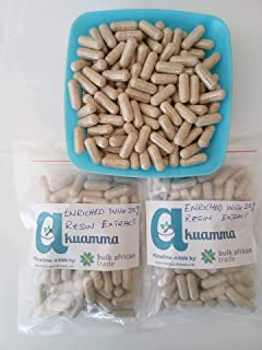 Akuamma (Picralima nitida) Seed Capsules 650mg/cap enriched with 25% Extract (200)