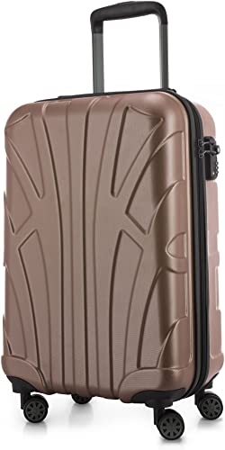 SUITLINE - Bagages Cabine à Main Valise Rigide, 55 cm, 34 Liter, Or