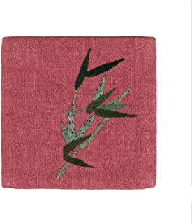 Table Mat Tableware Heat Insulation Non-Slip Table Mat Cotton Embroidery Place Mat Fabric Flower Coaster Silk Cup Pad Kitchen 17