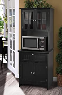 tall hutch with glass doors