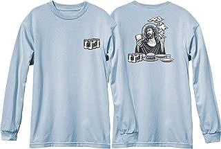 Blind Skateboards Heritage Smoking Jesus Powder Blue Men's Long Sleeve T-Shirt - Large