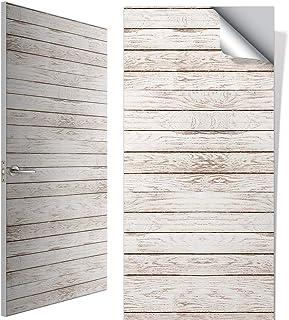 Vinilo para Puerta con Diseño HD de Madera Vintage, Personalizado a su Medida (Máx. 95 x 210 cm), Papel Adhesivo Decorativo para Puerta, Acabado Mate, V-PRT-01M