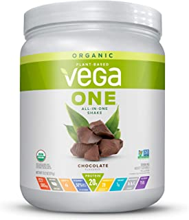 Vega One Organic Meal Replacement Plant Based Protein Powder, Chocolate - Vegan, Vegetarian, Gluten Free, Dairy Free with ...