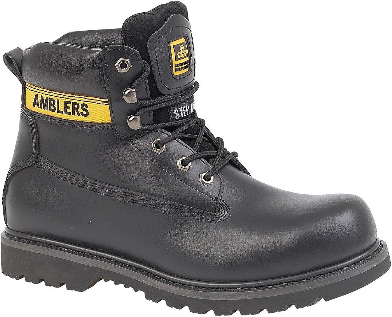 Amblers Unisex Steel FS9 Steel Toe Cap Safety Boot   Womens Boots (7 US) (Black)
