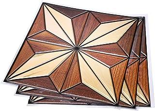 NET-O 壁紙シール 【DIY剥がせる壁紙立体シール】木目 レンガ調 北欧 3デザイン 30cm×30cm 9枚 約0.9㎡セット (デザインタイル)