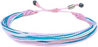 Custom Sized Transgender Pride Bracelet: Handmade Woven LGBTQ Trans Pride MTF FTM String Bracelet with Hematite Stones by Rumi Sumaq