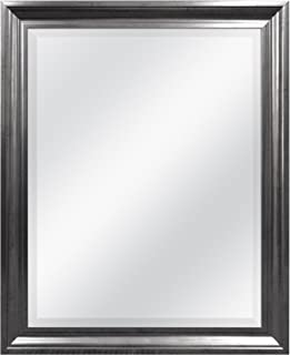 MCS 21.5x27.5 Inch Rectangular Wall Mirror, 26x32 Inch Overall Size, Pewter (20452)
