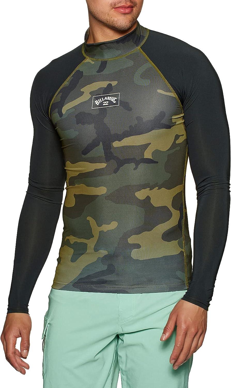 Billabong Mens Contrast Long Sleeve Rash Vest W4MY10 - Camo