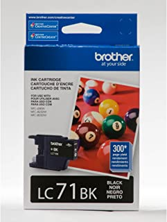 Brother LC71BK OEM Ink Cartridge: Black Yields 300 Pages