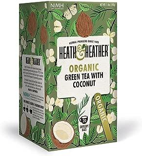 Heath & Heather Organic Green Tea & Coconut (Pack of 6)