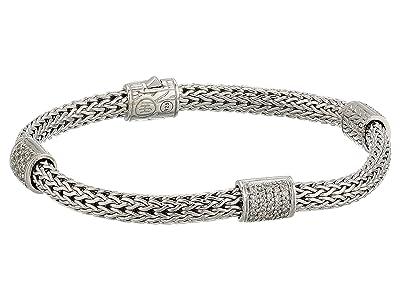 John Hardy Classic Chain Diamond Pave Four-Station Bracelet