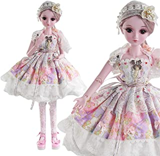 UCanaan BJD Dolls, 1/3 SD Doll 23.6 Inch 19 Ball Jointed Doll DIY Toys with Full Set Clothes Shoes Wig Makeup, Best Gift for Girls - Miyuki