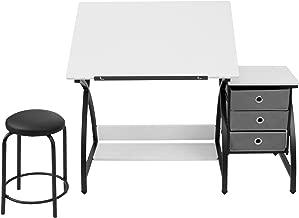 SD Studio Designs 13326 Comet Center with Stool, Black/White, 50