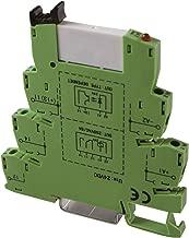 ASI ASI328002 ASIPLCREL24Vdc Pluggable SPDT Relay with DIN Rail Mount Screw Clamp Terminal Block Base, 6 amp, 250 VAC Rating, 24 VDC Coil