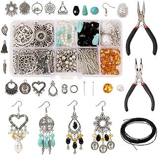 Queta Bijoux Faisant Kit Fabrication Bijoux Kit Fabric de Boucles d'oreilles Réparation de Bijoux Résultats de Bijoux Star...