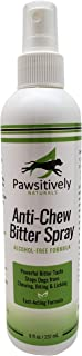 Pawsitively Naturals Premium Anti Chew Spray - All Natural No Chew Bitter Spray and Pet Deterrent for Dogs and Cats – Safe Alcohol Free Repellent Formula to Stop Chewing, Licking, and Biting -(8oz.)