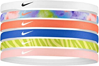NIKE Swoosh 6-Pack Printed Headbands (Assorted) - Silicone Grips - Unisex