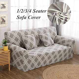 Sofa Cover - Lattice Elastic Stretch Universal Sofa Covers Sectional Throw Couch Corner Cover Cases Home Decor - Sofa Double White Loveseat Room Piece Blanket Pink Arms Shape Golden Multi