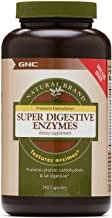 GNC Natural Brand Super Digestive Enzymes, 240 Capsules, Supports Protein, Carbohydrate and Fat Digestion