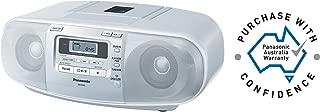 Panasonic CD Radio Cassette, White, (RX-D45)