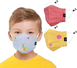 CENWELL Kids 3D Mask Reusable Washable Breathable Face Mask with Adjustable Earloops for Boys Girls Children Gift, Cute De...