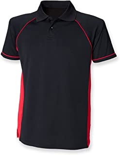 Finden & Hales Mens Panel Performance Sports Polo T-Shirt