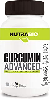 NutraBio Curcumin Advanced (60 Vegetable Capsules) – Digestion and Joint Support Complex