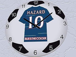 FanPlastic Eden Hazard 10 Chelsea FC Legends Edition - European UEFA Champions League Soccer Ball Wall Clock