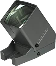 35mm Film and Slide Viewer, Desk Top Portable LED Negative and Slide Viewer, 3X Magnification, LED Lighted Viewing, for 35mm Slides & Film Negatives (Battery Not Included)