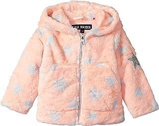 Steve Madden Baby Girls Star Printed Faux Fur Jacket