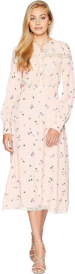 Rose Floral Midi Dress