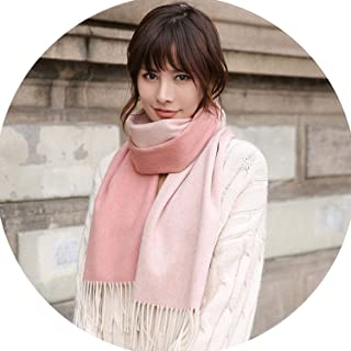Women 100% Pure Wool Scarf 2018 Luxury Brand for Ladies Soft Warm Neckerchief Solid Winter Scarves Wool Warps