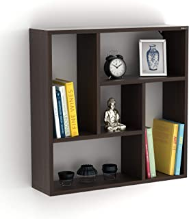 BLUEWUD Jasden Engineered Wood Multipurpose Kitchen Wall Shelf Rack (Wenge)