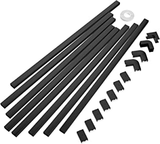"""One-Cord Channel Cable Concealer - CMC-03 Cord Cover Wall Cable Management System - 125"""" Cable Hider Raceway Kit for a Pow..."""