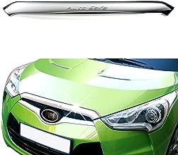 Chrome Front Hood Garnish Bonnet Molding Trim Cover for Hyundai Veloster 2012 2013 2014 2015 2016 2017