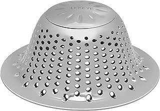 LEKEYE Drain Hair Catcher/Bathtub Shower Drain Cover/Stainless Steel Drain Protector/Shower Drain Hair Trap-Silver