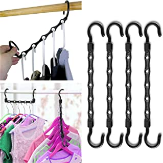 Generies Brands Space Saving Hangers 10 Pack Magic Hangers Clothes Hangers Organizer Smart Closet Space Saver with Sturdy ...
