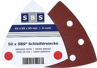 SBS Velcro schuurdriehoeken 93x93x93 50 stuks korrel 240 Delta 6 gaten