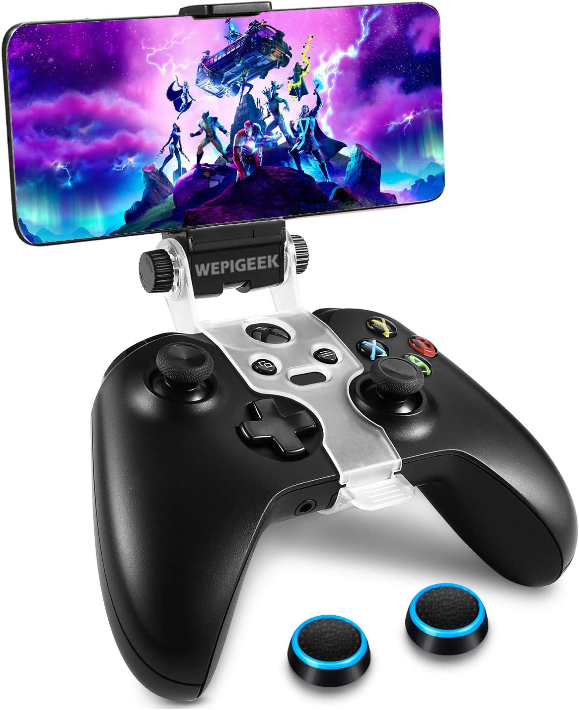 WEPIGEEK Adjustable Wireless Controller Phone Clip Mount Holder Clamp Compatible with Xbox/Xbox One/Elite Bluetooth Gamepad