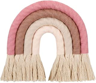 WUQIANG Nordic Home Weaving Rainbow Tapestry Cotton Hand-Woven Color Ornaments Children'S Room Decoration Tassel Wall Hang...
