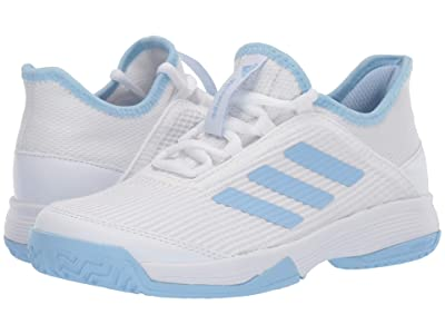 adidas Kids Adizero Club Tennis (Little Kid/Big Kid) (White/Glow Blue) Kids Shoes