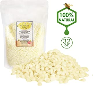 Asama White Beeswax Pellets 2 lb (32 oz), Pure, Natural, Cosmetic Grade, Top Quality Bees Wax Pastilles, Triple Filtered, Great for DIY Lip Balms, Lotions, Candles