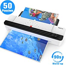 A3/A4/A6 Thermal Laminator Machine, 12 inch, Rapid 1.5 Minute Warm-up with 50 Laminating Pouches and Corner for Home Office School Use , Support 3Mil 5 Mil