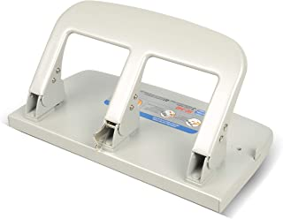 CARL, Medium-Duty 3 Hole Paper Punch, 40 Sheet Punch Capacity, Metallic, Model:HC-340