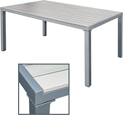 Garten-Esstisch WPC Aluminium Esstisch Gartentisch Terrassentisch Gartenmöbel