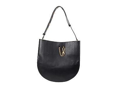 AllSaints Beaumont Hobo (Black) Handbags