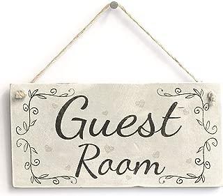 Guest Room - Vintage Style PVC Door Sign/Plaque Bedroom