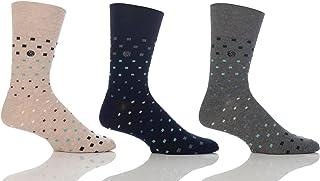 Mens Mini Squares Gentle Grip Sock By Sock Shop Honeycombe Loose Top 6 PK RJ29
