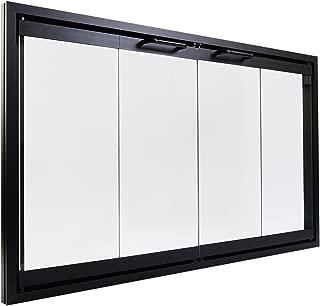 Prefab Fireplace Doors | Bi Fold Glass Doors with Frame for Prefab Fireplaces (36